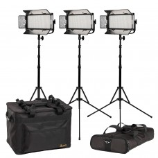 ikan MYLO BI-COLOR 3-POINT LED LIGHT KIT W/ 3 X MB8, INCLUDES DV BATTERIES, STANDS, AND BAGS